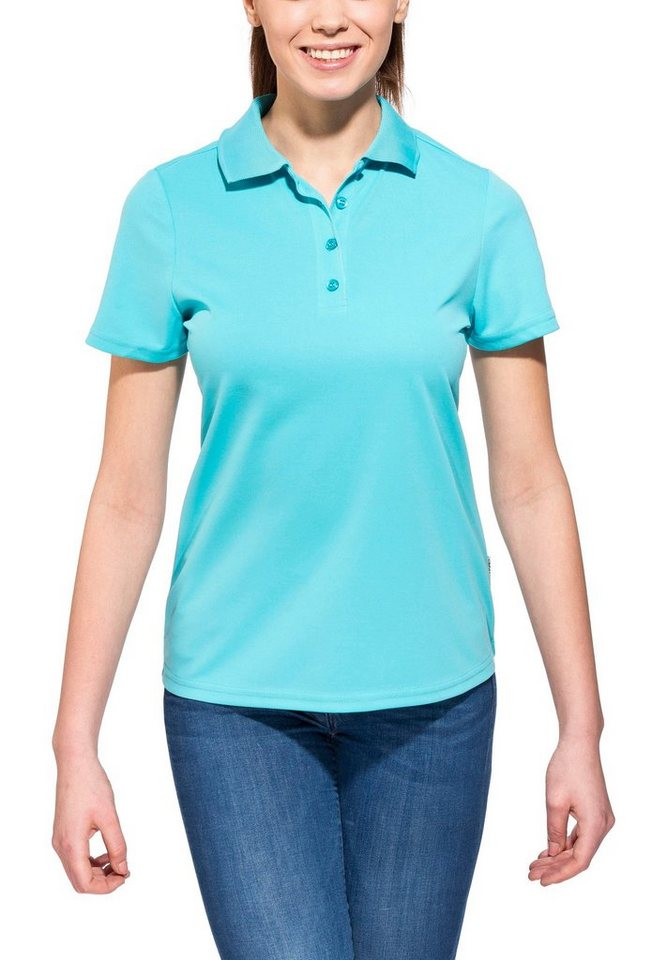 axant T-Shirt »Alps Polo Agion Active Women« in türkis