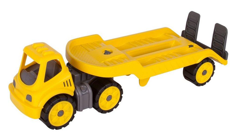 BIG Spielfahrzeug mit drehbarer Ladefläche, »BIG Power Worker Mini Transporter gelb« in gelb