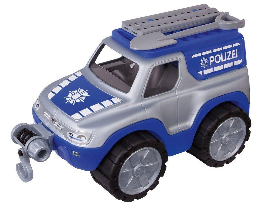 BIG Spielfahrzeug mit Seilwinde, »BIG Power Worker Offroad Polizei« in blau