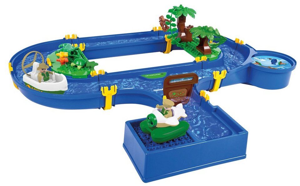 BIG Wasserbahn mit Wasserturbine, »BIG Waterplay Jungle Adventure« (32tlg.) in blau
