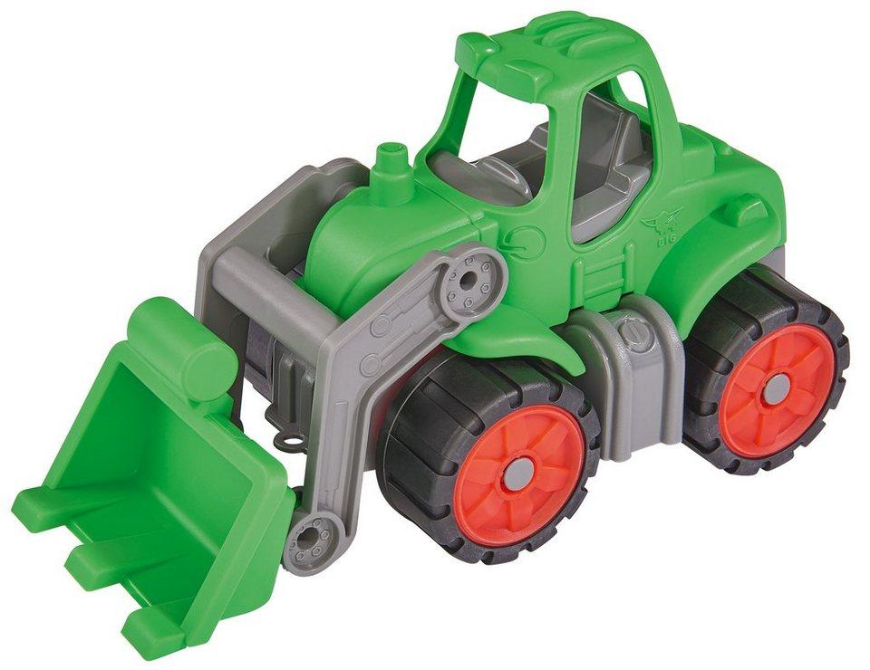 BIG Spielfahrzeug mit großer Schaufel, »BIG Power Worker Mini Traktor grün« in grün