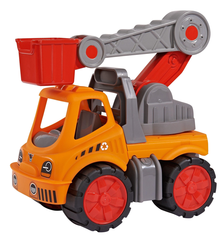 BIG Spielfahrzeug mit beweglichem Kran, »BIG Power Worker Service Kran orange«