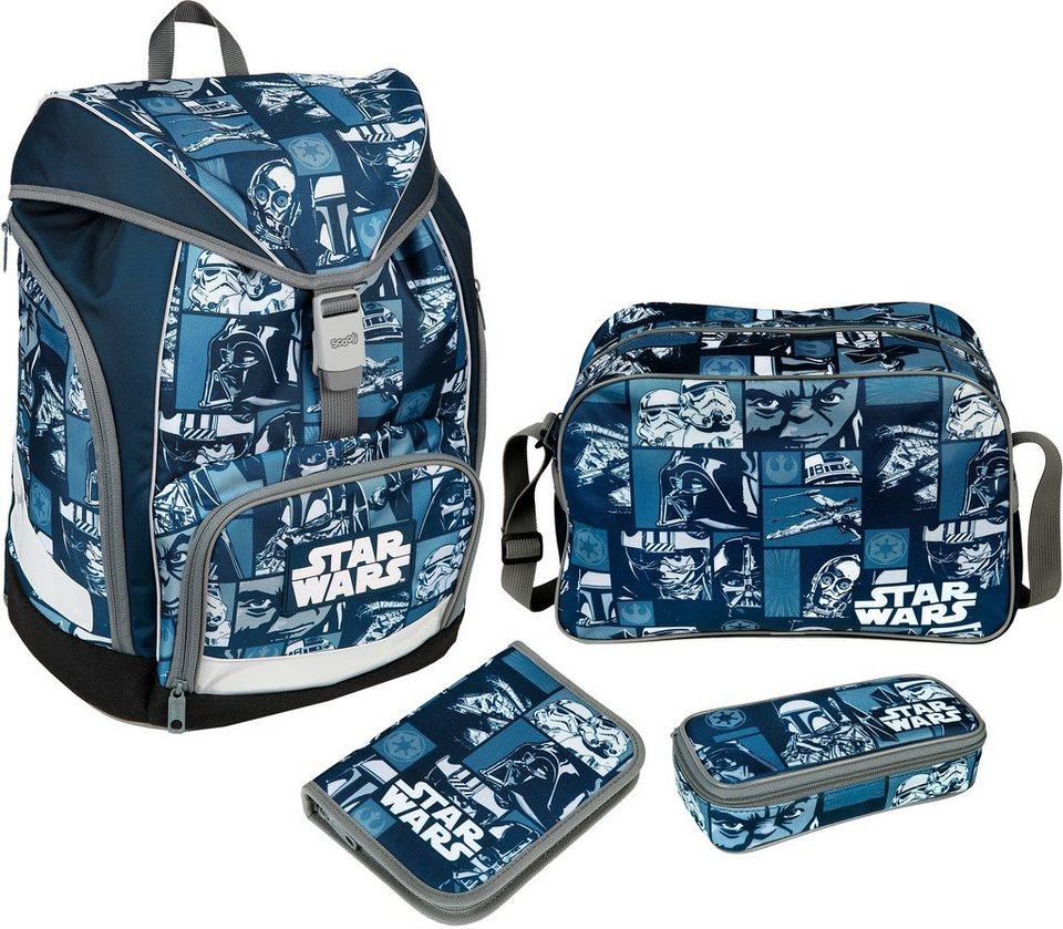 Scooli Schulrucksack Set 4-tlg., »TWIXTER Star Wars« in blau