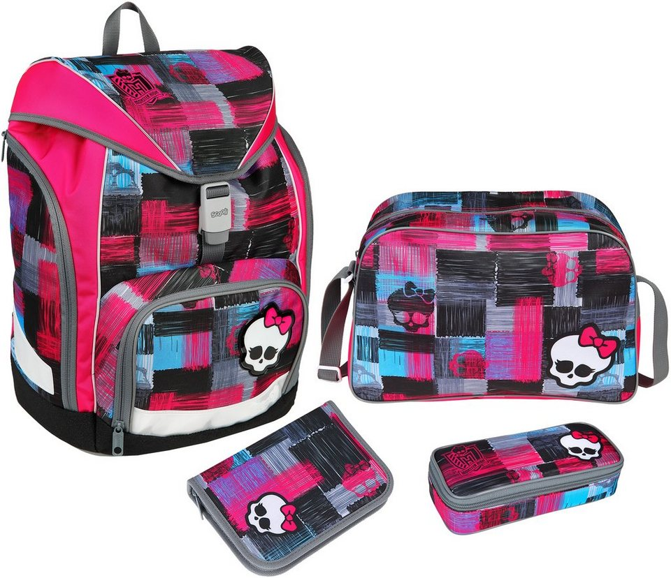 Scooli Schulrucksackset 4-tlg., »TWIXTER Monster High« in pink