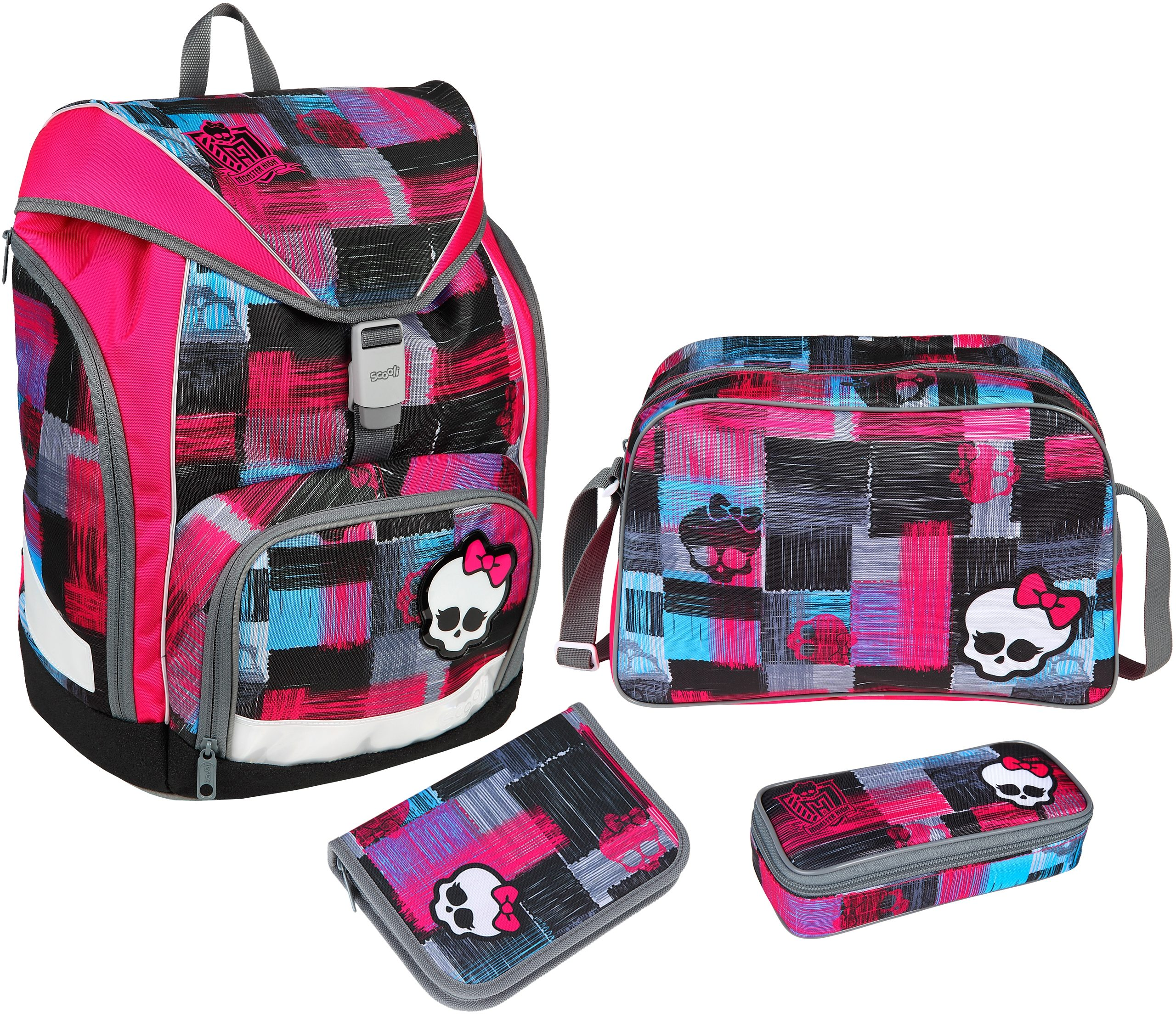 Scooli Schulrucksackset 4-tlg., »TWIXTER Monster High«