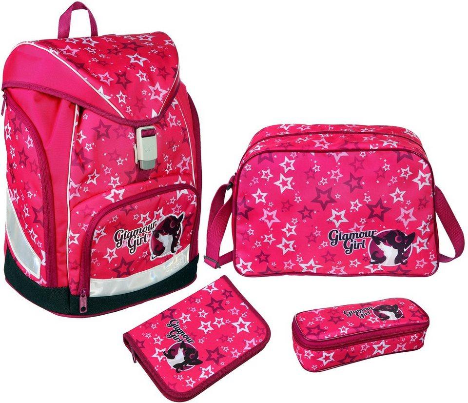 Scooli Schulrucksack Set 4-tlg., »TWIXTER Glamour Girl« in pink