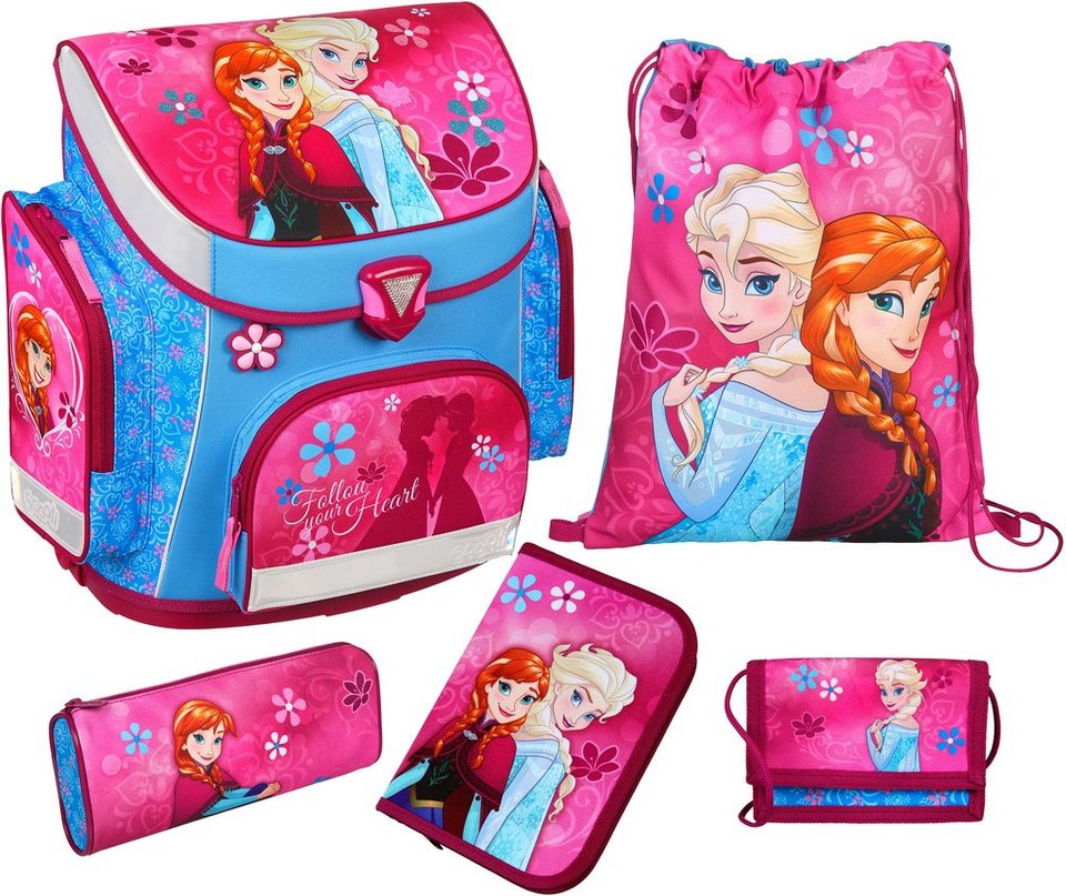 Scooli Schulranzen Set 5-tlg., »Disney Frozen Campus Plus« in blau
