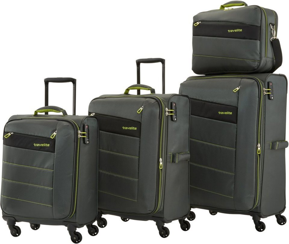 travelite trolley set mit 4 rollen kite 4tlg otto. Black Bedroom Furniture Sets. Home Design Ideas