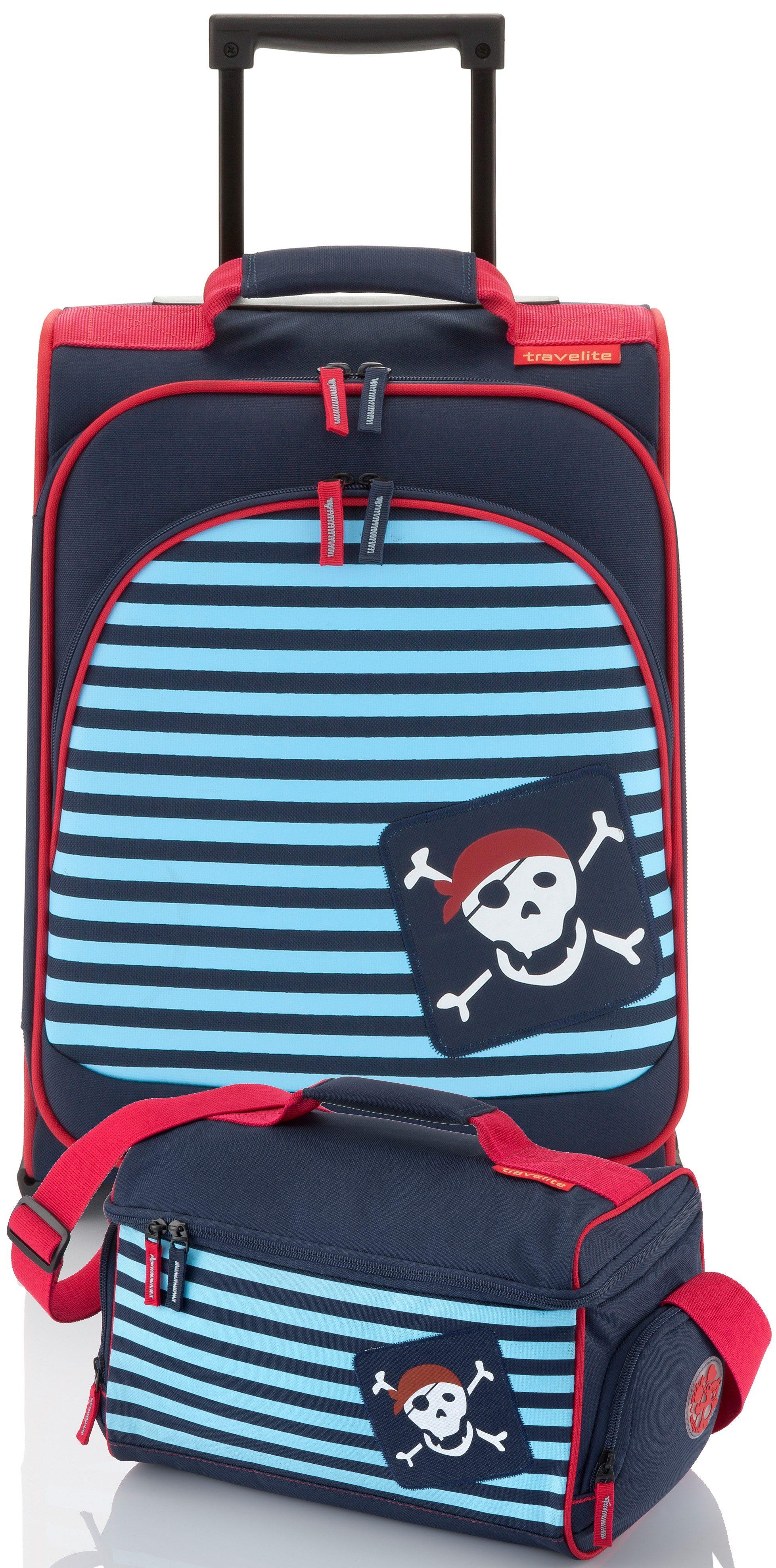 travelite Set: Trolley mit 2 Rollen und Reisetasche für Kinder, »Youngster Pirat« (2tlg.)