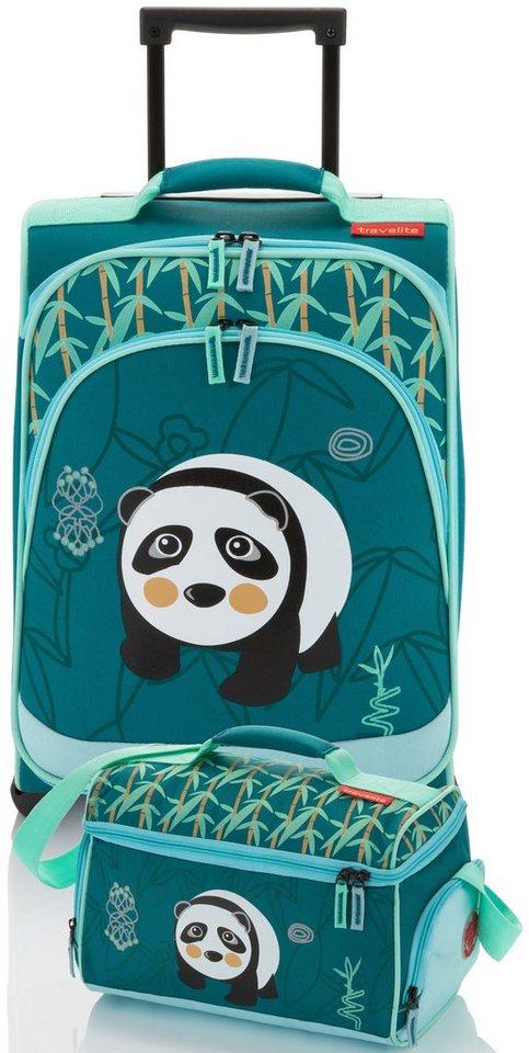 travelite set trolley mit 2 rollen und reisetasche f r kinder youngster panda 2tlg online. Black Bedroom Furniture Sets. Home Design Ideas