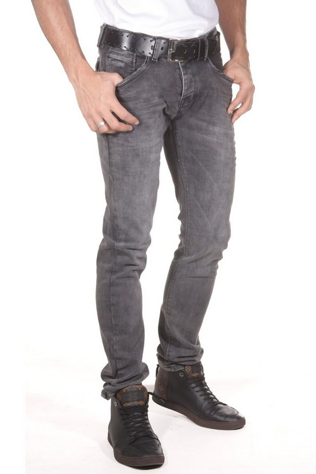 Bright Jeans Stretchjeans slim fit in grau