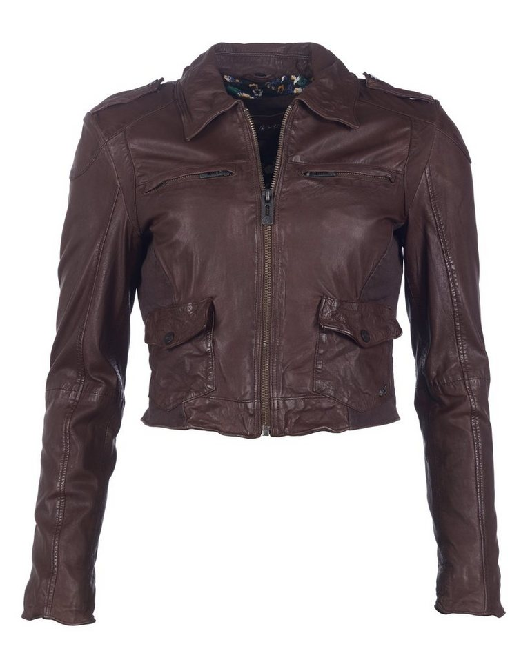 MAZE Lederjacke, Damen Phoenix in dark brown