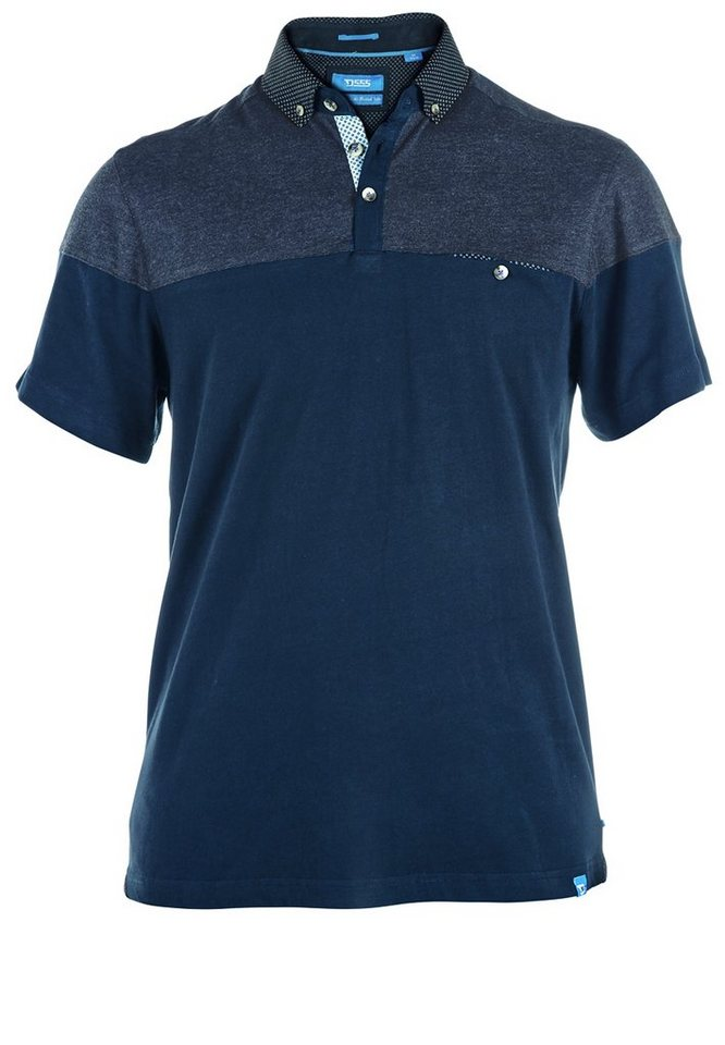 D555 Poloshirt in Marineblau