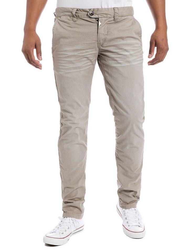 TIMEZONE Hosen lang »JannoTZ chino pants« in beige tie minimal