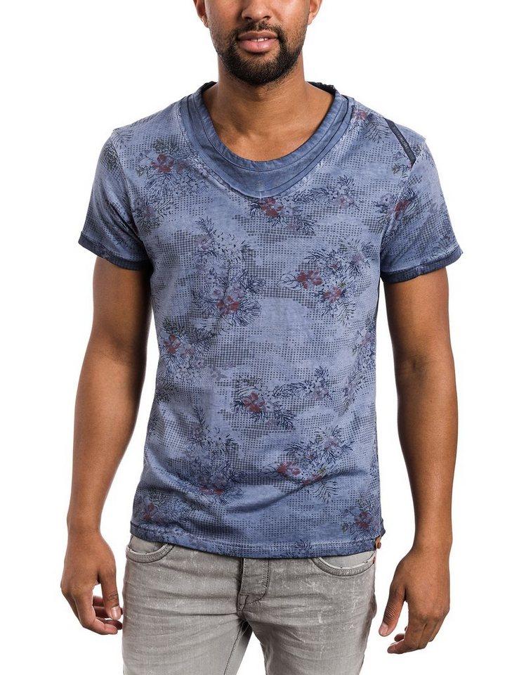 TIMEZONE T-Shirts (kurzarm) »T-shirt« in blue hawaii camo