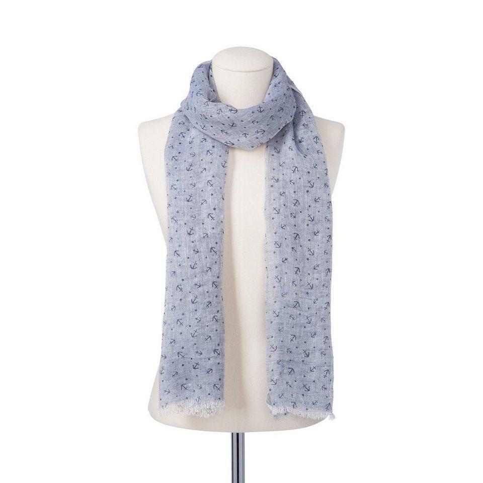 CODELLO Herren-Schal aus Leinen in hellblau