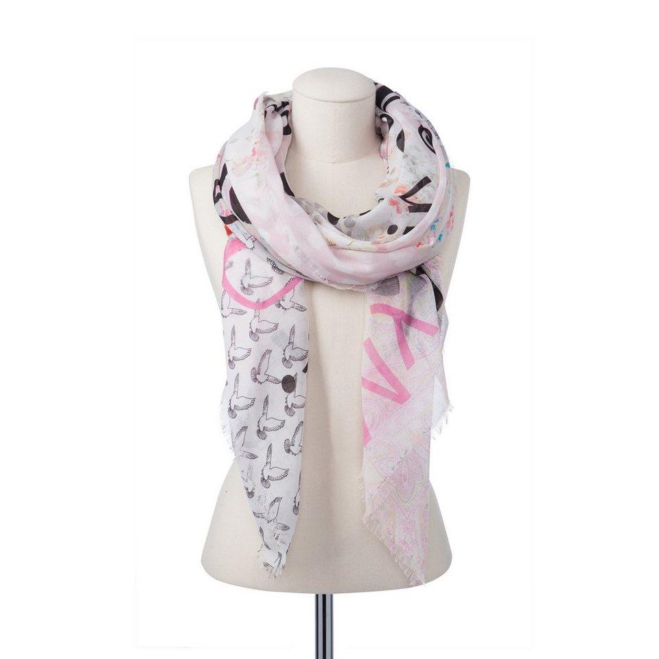 CODELLO Schal mit Prints in rosa