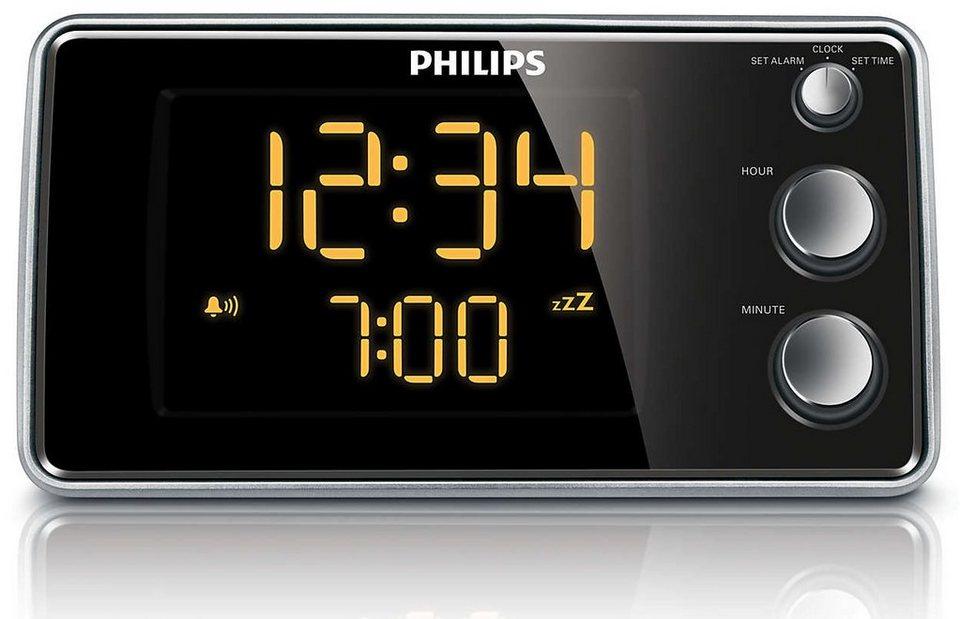 Philips Radiowecker »AJ3551/12« in schwarz