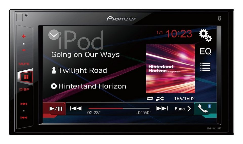 PIONEER 2-DIN Receiver mit Bluetooth »MVH-AV280BT« in schwarz