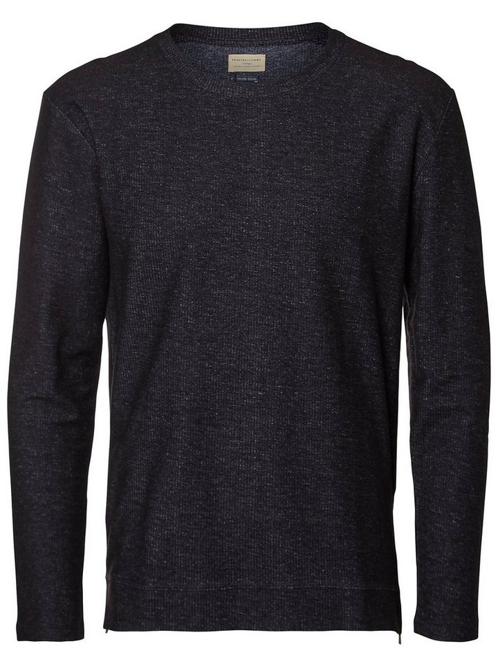 Selected Crew-Neck Sweatshirt in Estate Blue