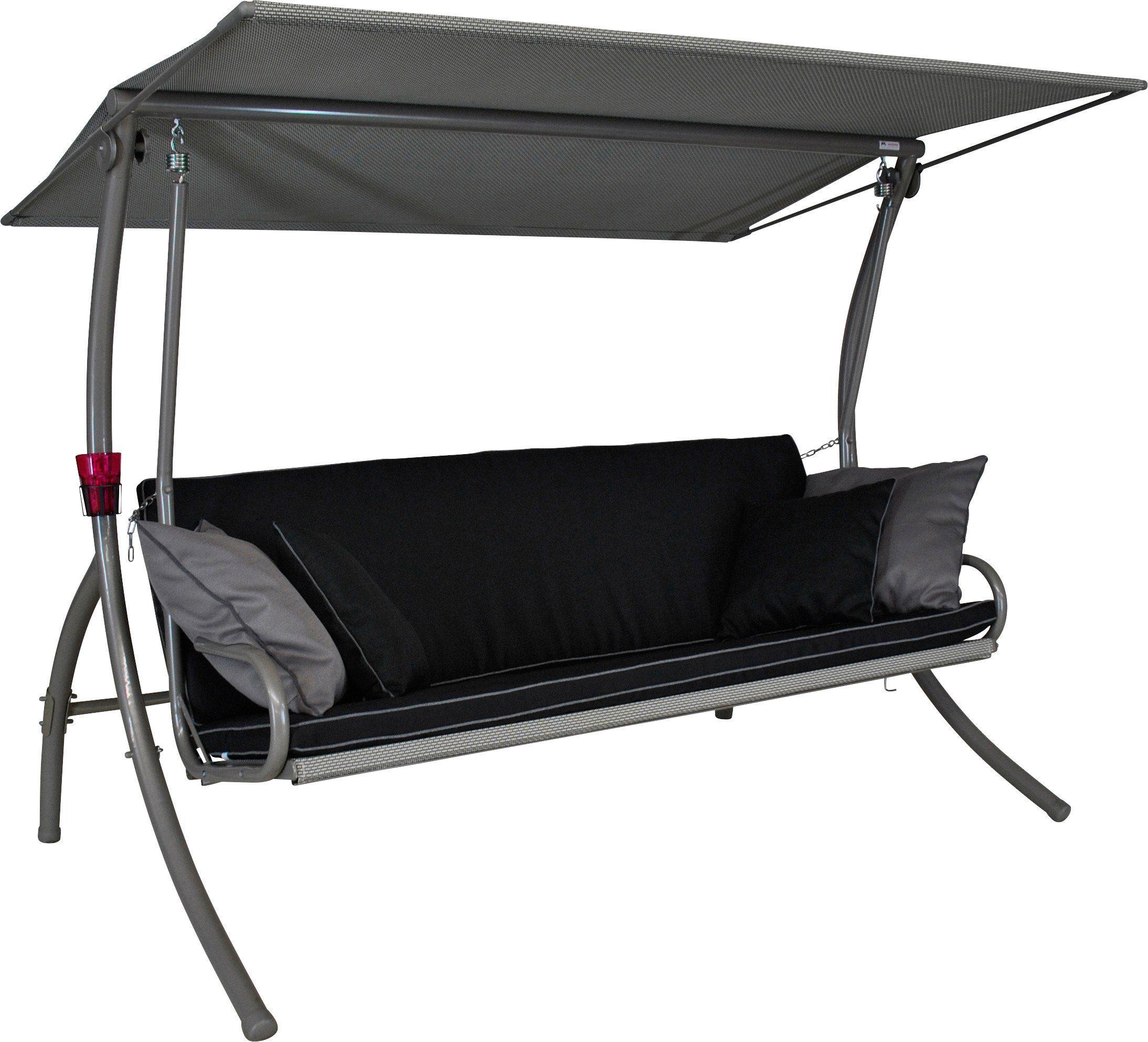 ANGERER FREIZEITMÖBEL Hollywoodschaukel »Elegance Style«, 3-Sitzer, schwarz