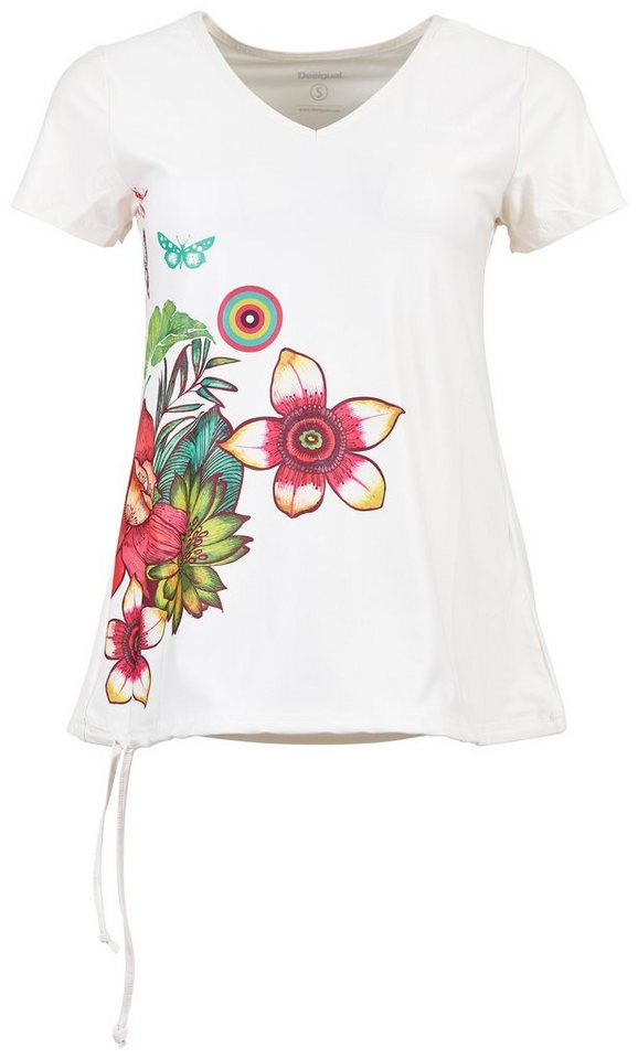 Desigual T-Shirt »TS CD T-S V NECK T« in Weiß