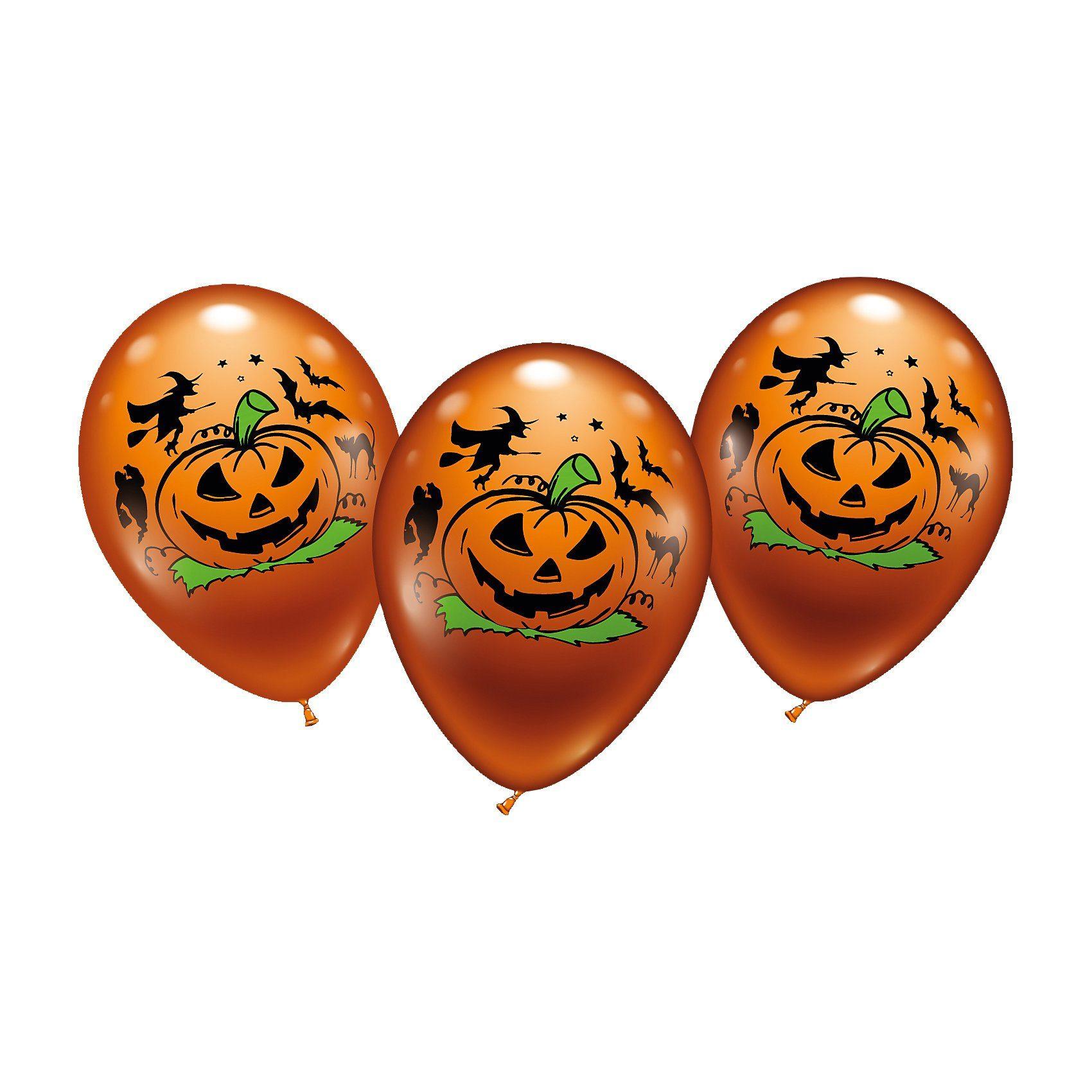 Karaloon Luftballons Halloween, 6 Stück