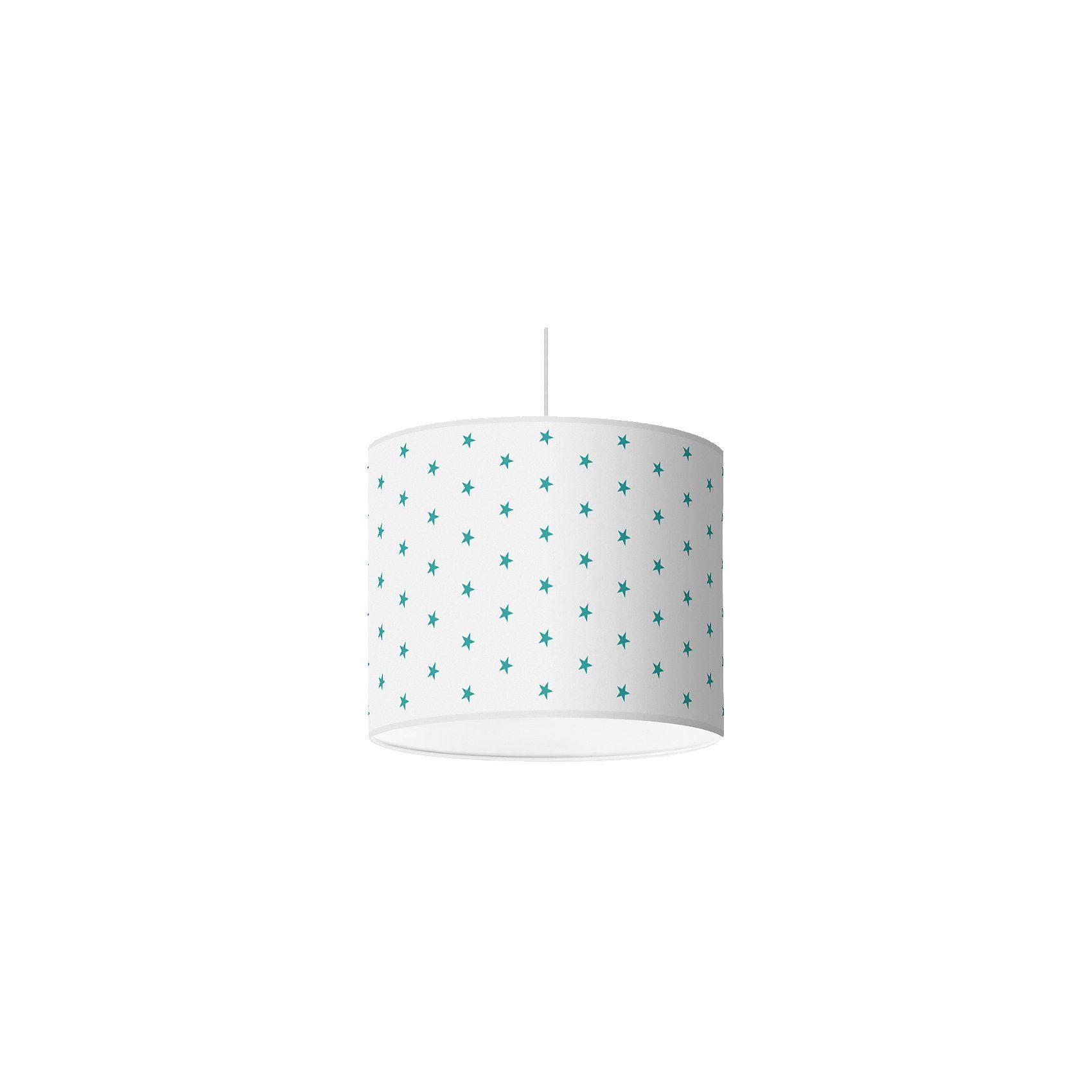 Lampenschirm Sterne, jade-weiß, Ø16cm