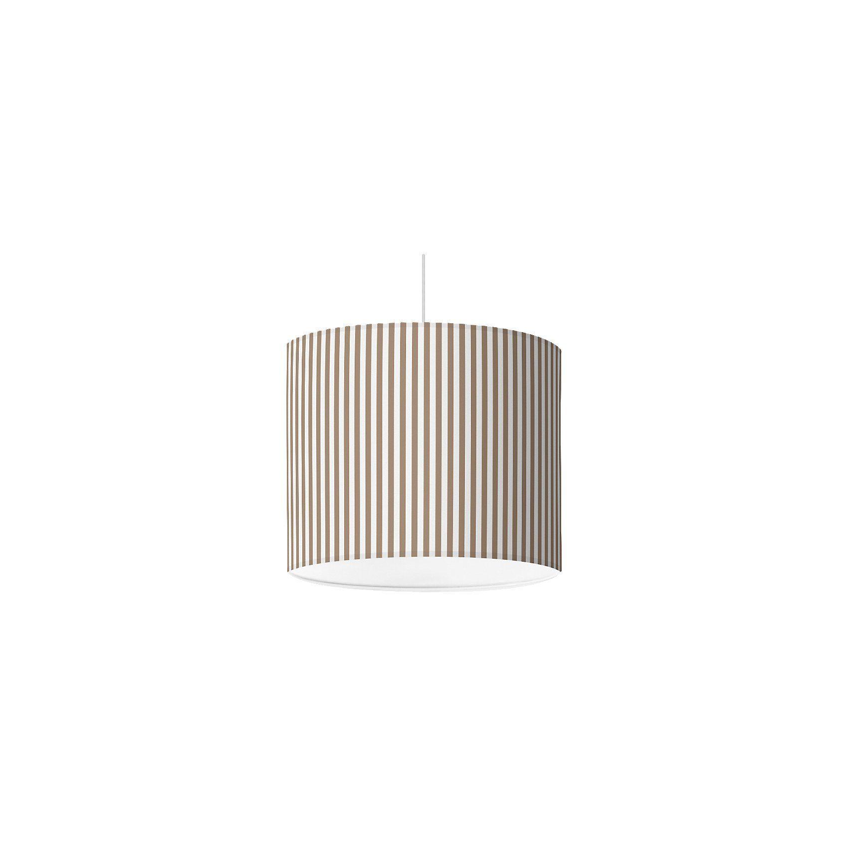 Lampenschirm Streifen, taupe, Ø16cm