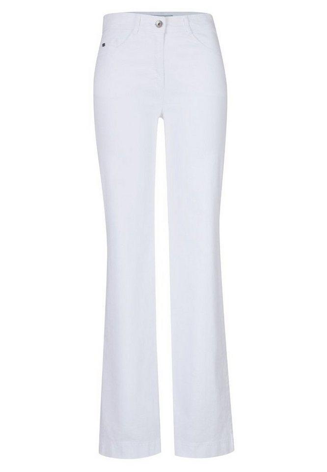 BRAX Damenjeans Five-Pocket »MILA FLARED« in WHITE
