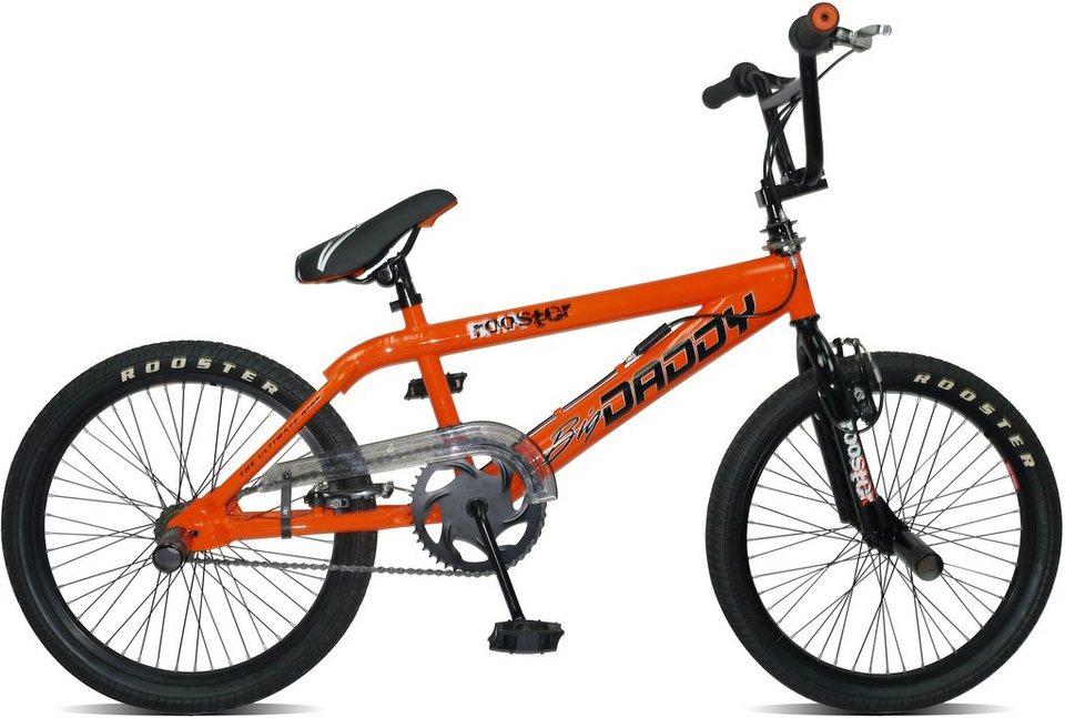 Rooster BMX, 20 Zoll, orange, V-Brakes, »Big Daddy Spoked« in orange