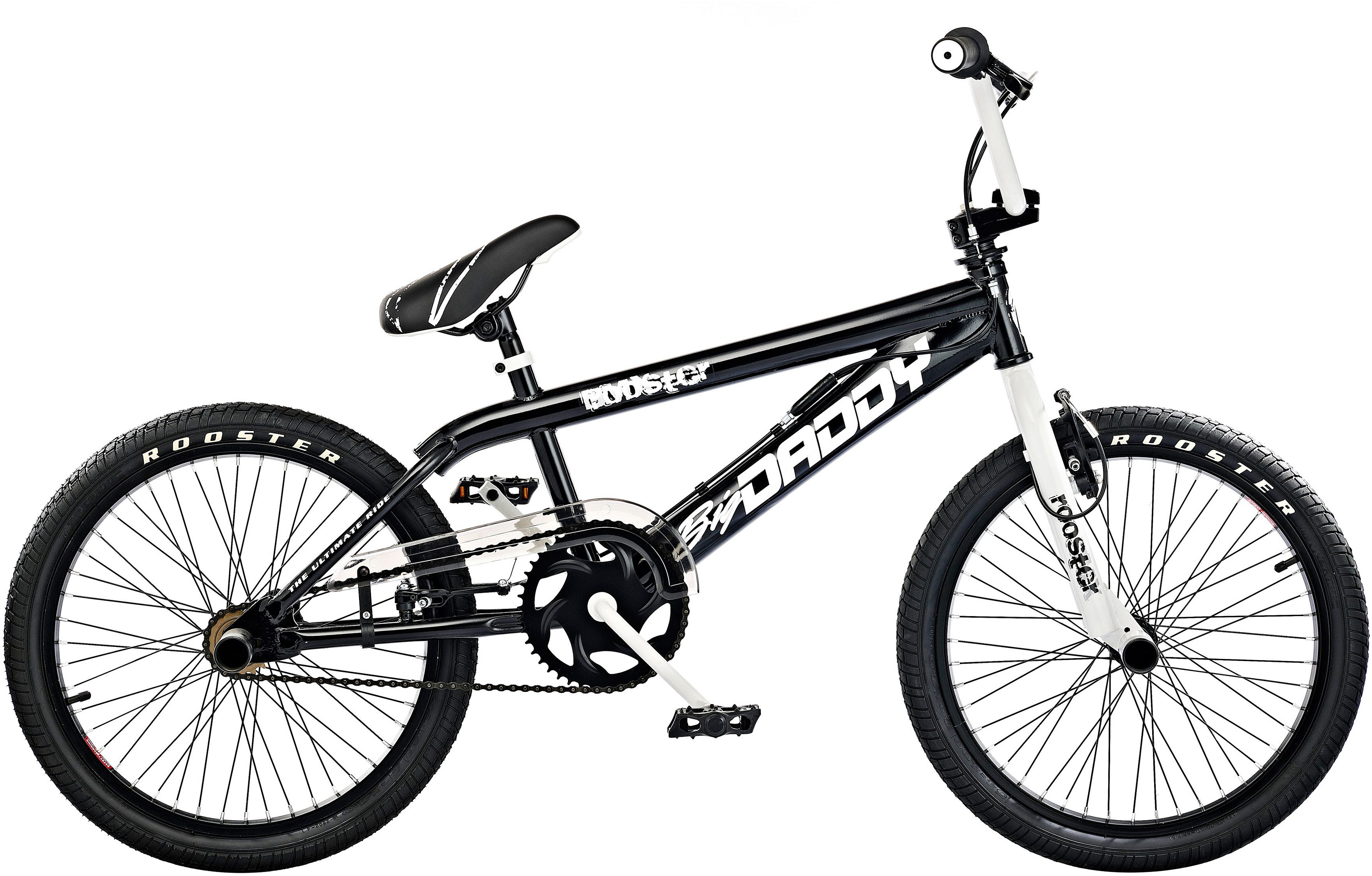 Rooster BMX, 20 Zoll, schwarz, V-Brakes, »Big Daddy Spoked«