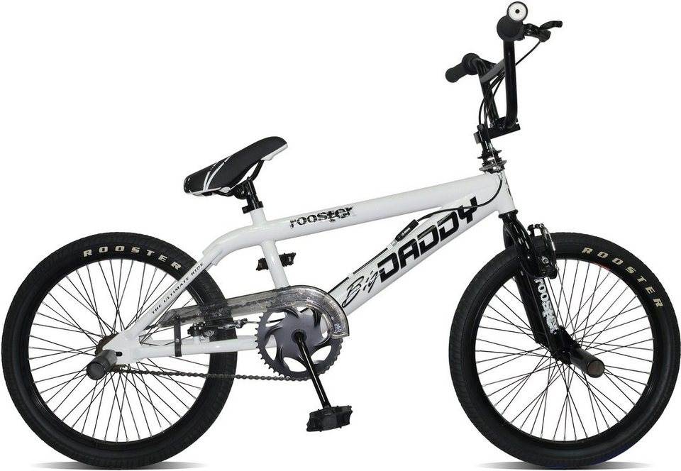 Rooster BMX, 20 Zoll, weiß, V-Brakes, »Big Daddy Spoked« in weiß