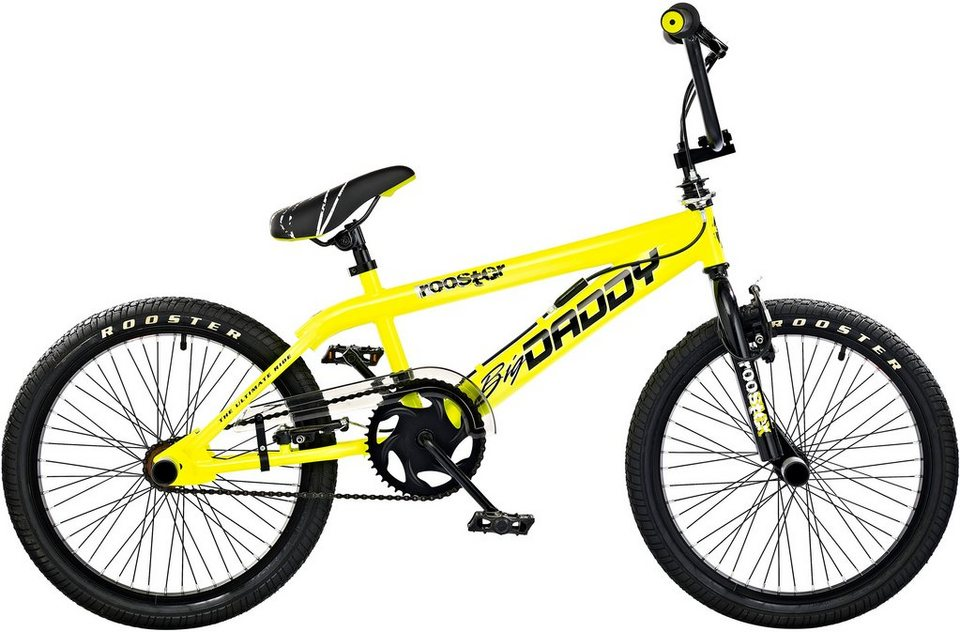 Rooster BMX, 20 Zoll, gelb, V-Brakes, »Big Daddy Spoked« in gelb