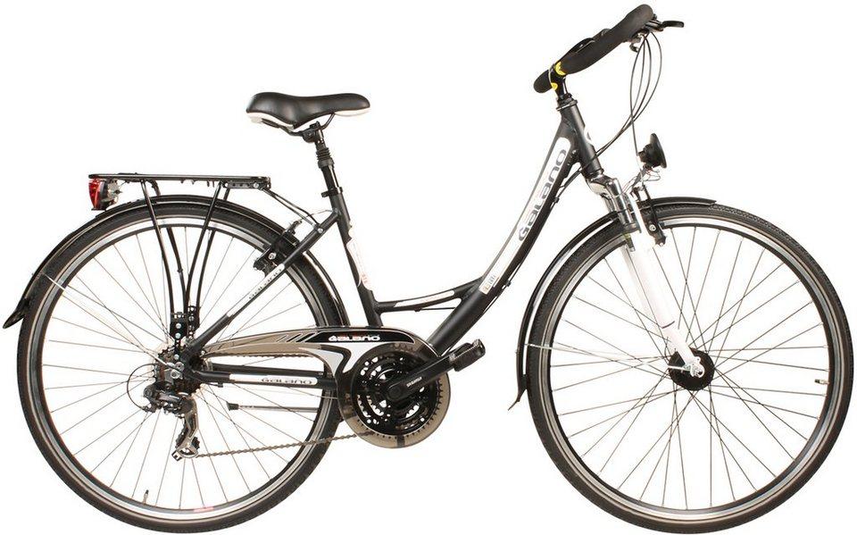 Galano Trekkingrad, Damen, Tourenlenker, 21 Gang Shimano Kettenschaltung, schwarz, »Avalon« in schwarz