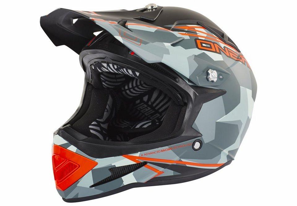 O'NEAL Fahrradhelm »Warp Fidlock Helmet Edgy Camo« in grau