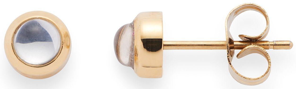 Jewels by Leonardo Paar Ohrstecker mit Glassteinen, »puntino gold/klar, 015988«