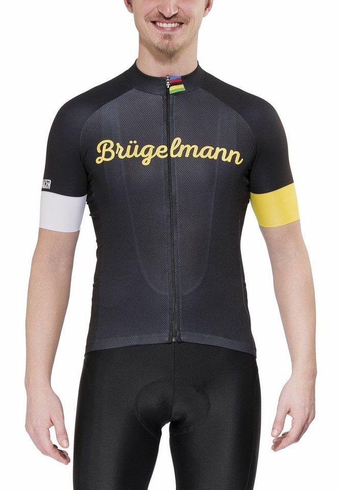 Brügelmann Radtrikot »Bioracer Classic Race Jersey Men« in schwarz