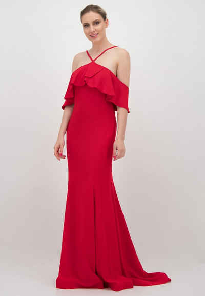 Prestije Abendkleid »mit Volant-Carmen-Ärmeln«