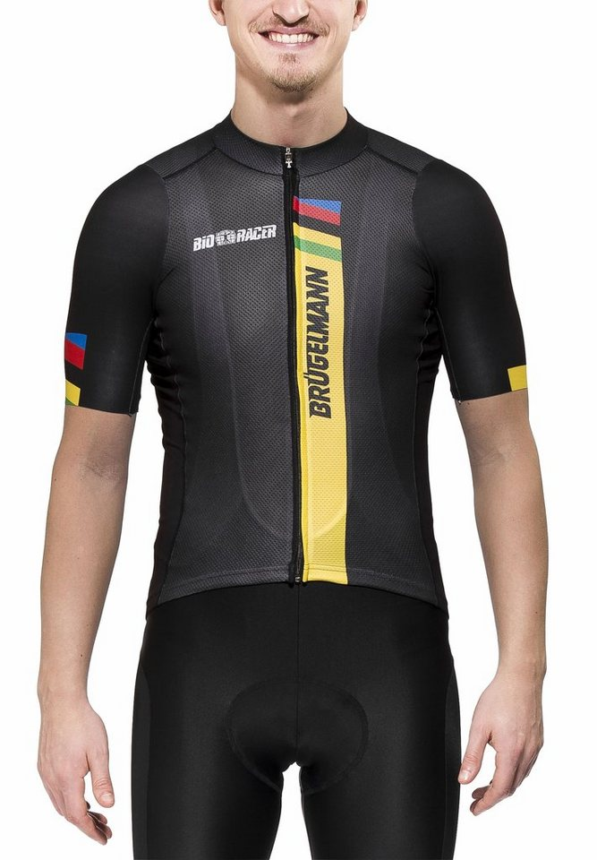 Brügelmann Radtrikot »Bioracer Pro Race Jersey Men« in schwarz