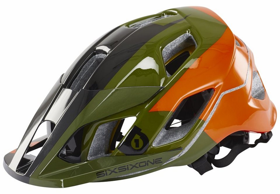 SixSixOne Fahrradhelm »Evo AM Helmet« in orange