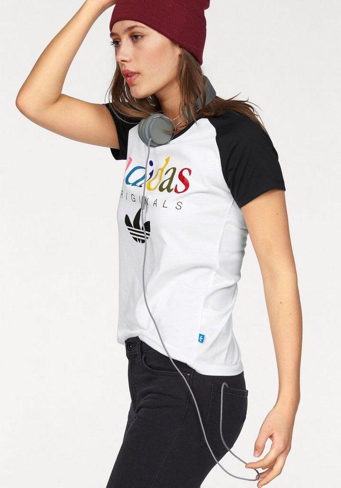 adidas Originals T-Shirt in weiß-schwarz