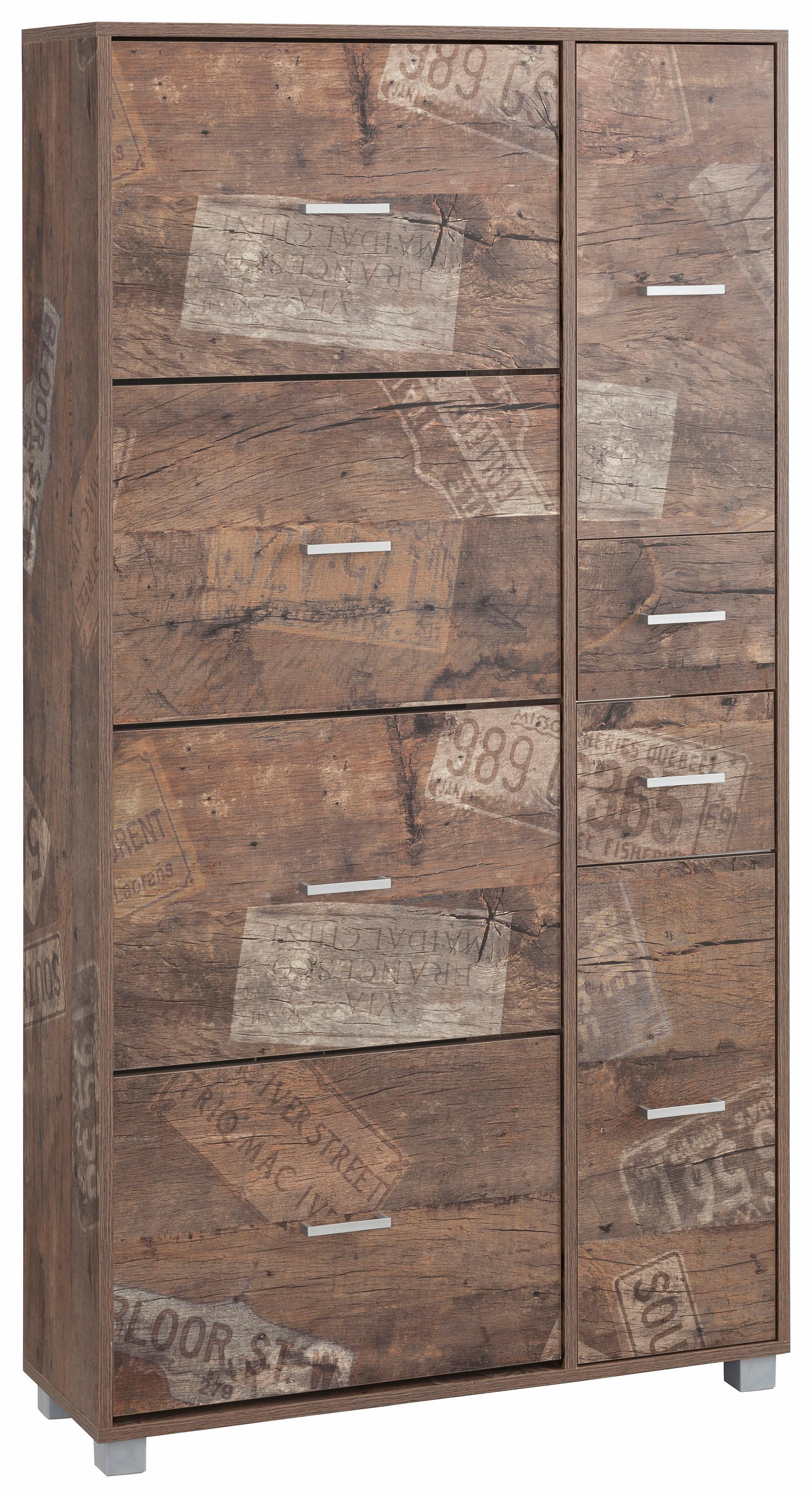 Maxi-Schuhschrank, Schildmeyer »Pisa«, Breite 88,5 cm, mit 4 Klappen | Flur & Diele > Schuhschränke und Kommoden > Schuhschränke | Melamin | Schildmeyer