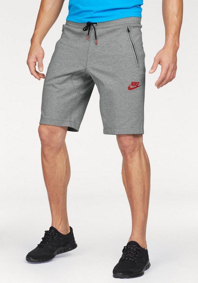 Nike Shorts »NSW AV15 FLEECE SHORT« in grau-meliert