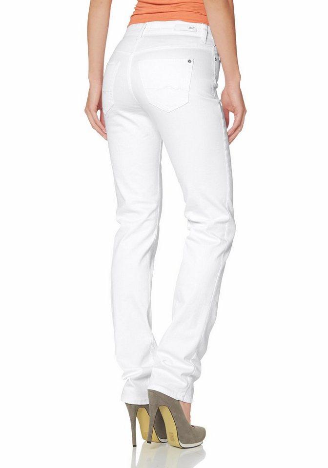 MAC Gerade Jeans »Angela« in weiß