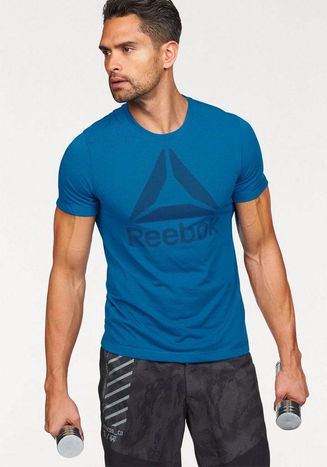 Reebok T-Shirt »Workout Ready Big Logo Supremium Tee« in blau