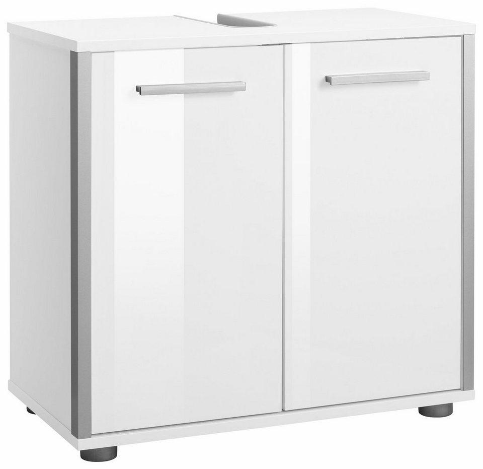 welltime Waschbeckenunterschrank »Tristo« in weiß/weiß