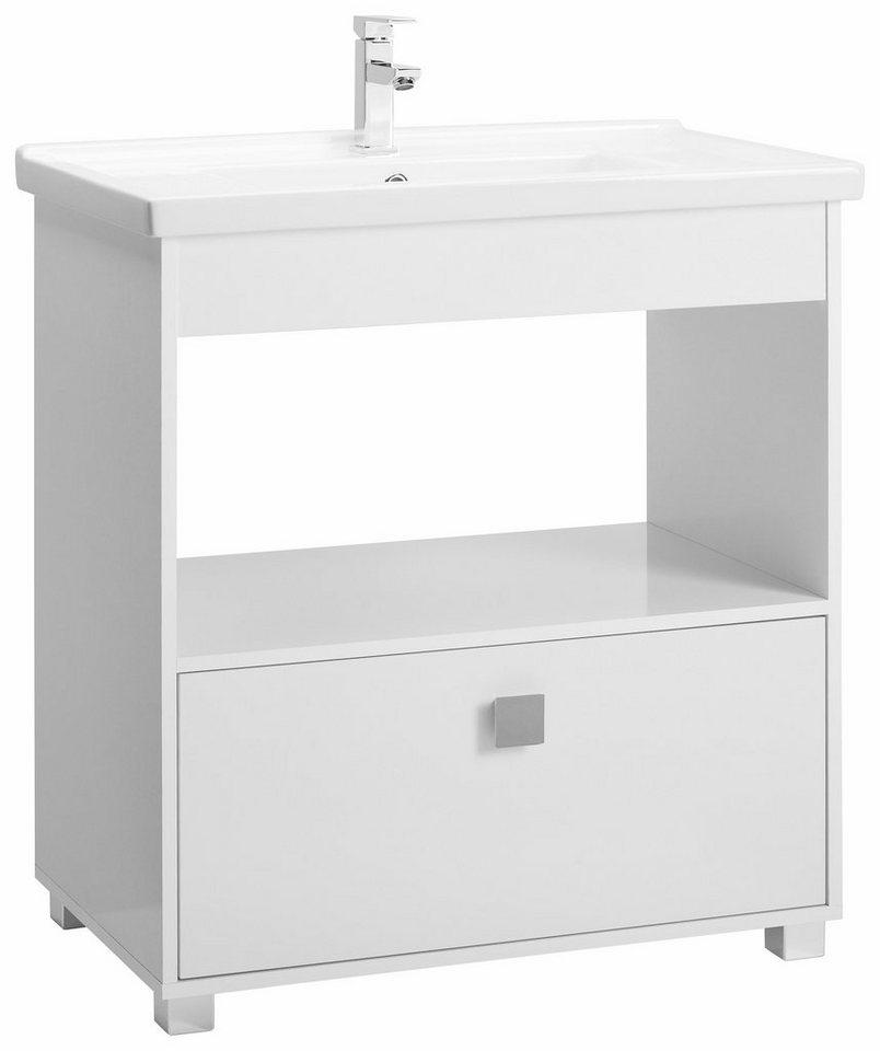 Schildmeyer Waschtisch »Box« in weiß
