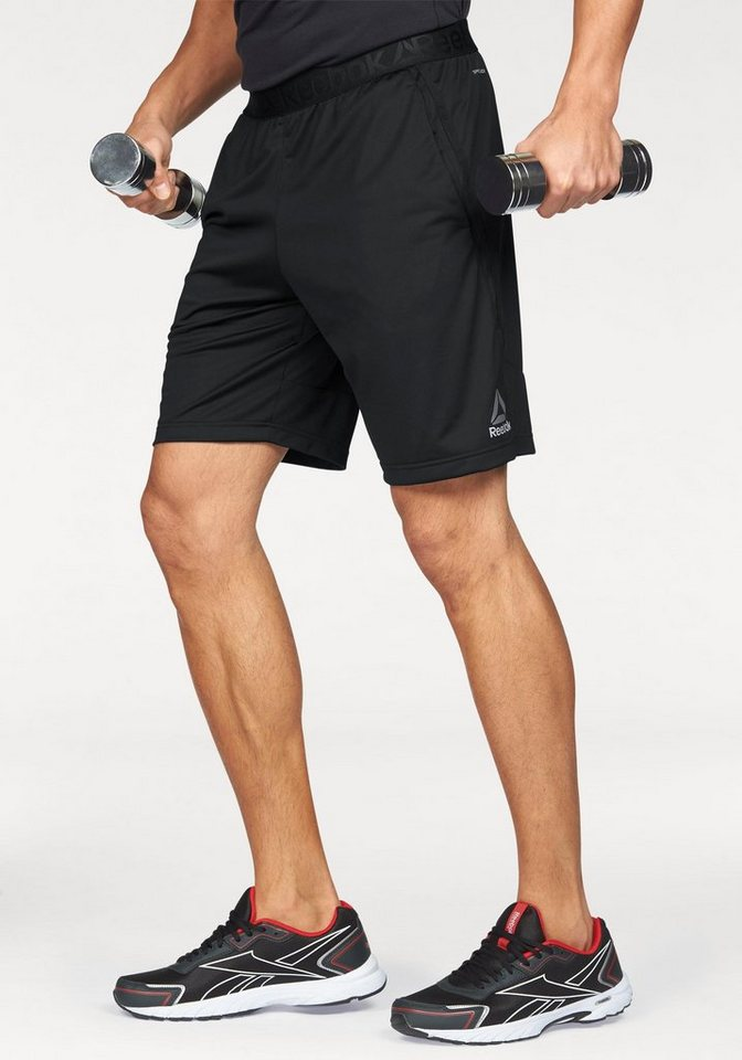 Reebok Funktionsshorts »Workout Ready Stacked Logo Short« in schwarz