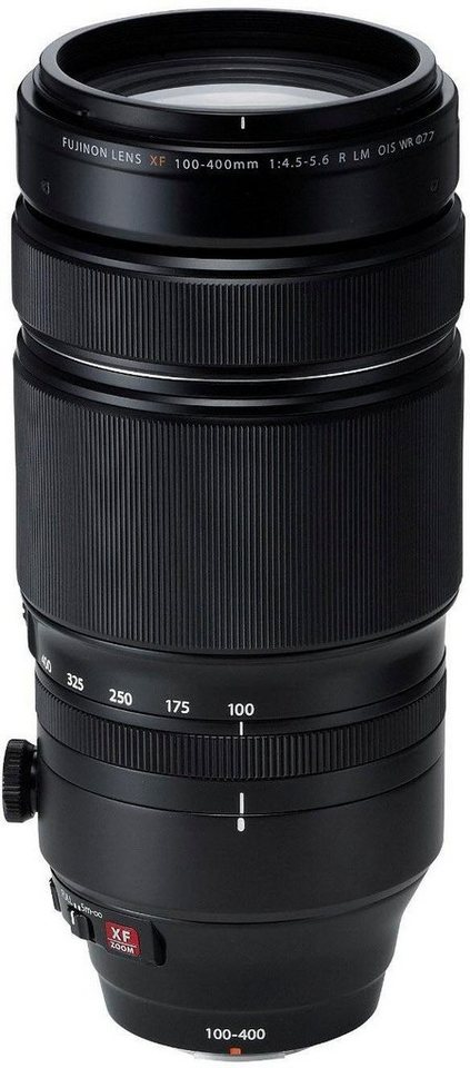 FUJIFILM XF100-400mmF4.5-5.6 R LM OIS WR Supertele Objektiv in schwarz